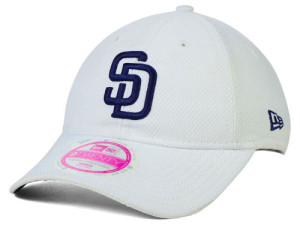 Padres womans adjustable hat white