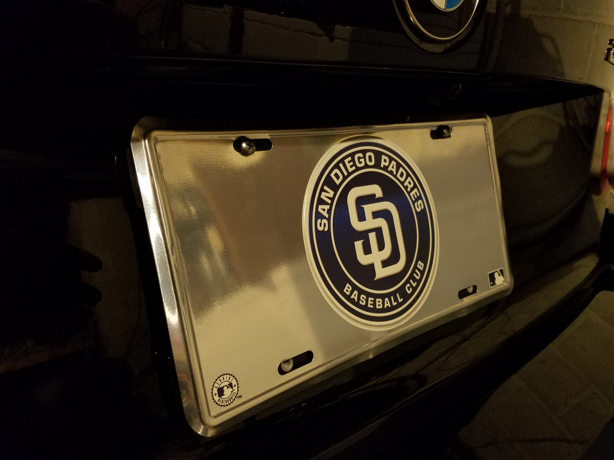 sd padres license plate 2