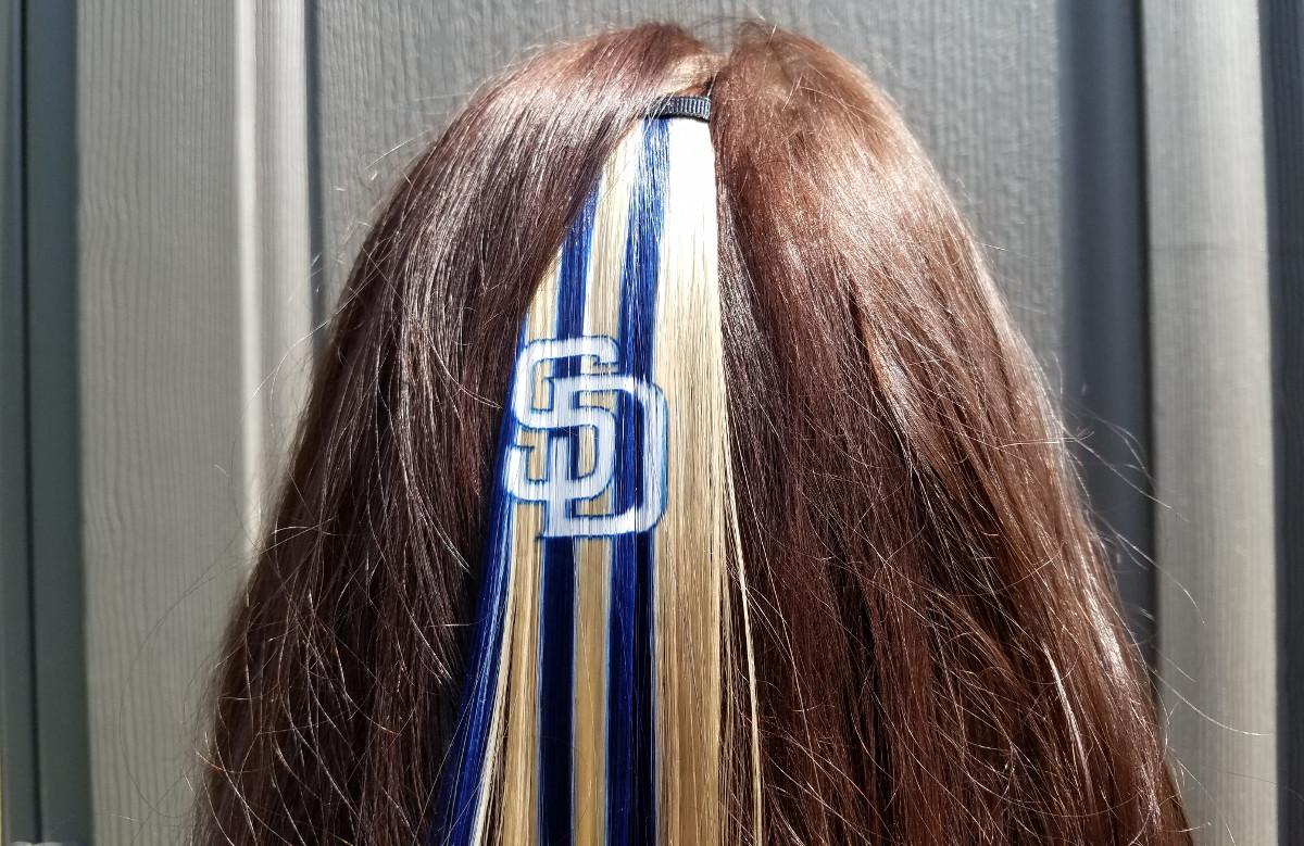 padres hair clip