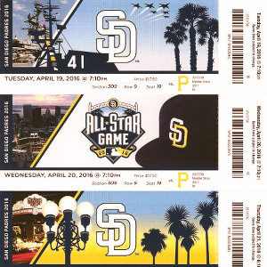 Padres Game Tickets