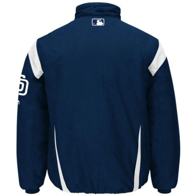 Majestic Navy On-Field Therma Base Thermal Full-Zip Jacket