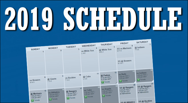 2019 Padres Schedule